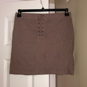 Brown Forever 21 body skirt